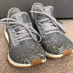 Adidas Pure Boost - gray with tan and white sole